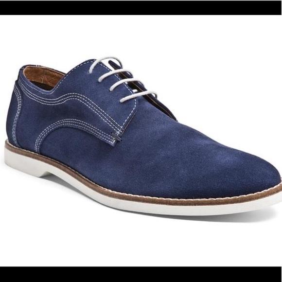 24a88f3483d Steve Madden Men's Alisterr Blue Suede Oxfords